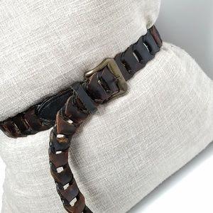 Vintage Leather Belt - fully adjustable